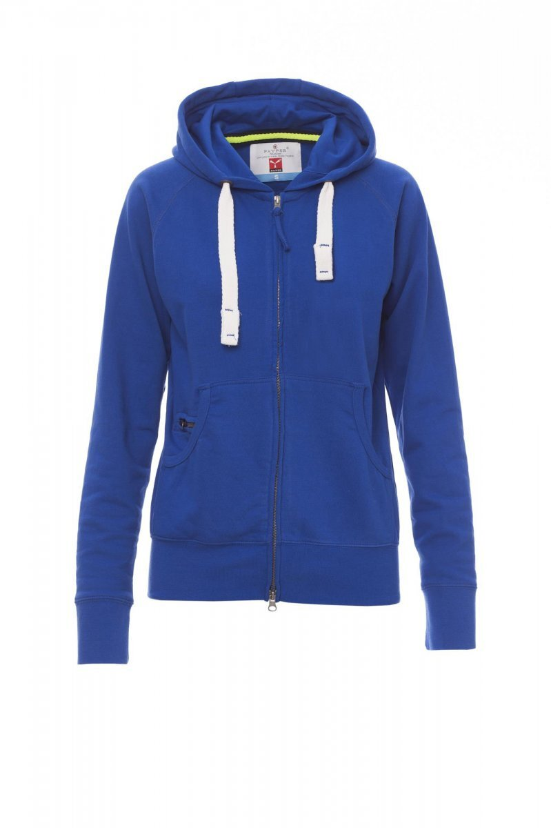 HAWAII+LADY  | FELPA FULL ZIP CON CAPPUCCIO FRENCH TERRY 260 GR  20% POLIESTERE